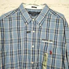 NWT Men's U.S. Polo Assn. 2XLT Stretch Button Shirt Plaid Long Sleeve Cotton