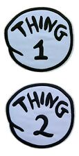 New listing Thing 1 Thing 2 Embroidered Iron on Patch Set of 2