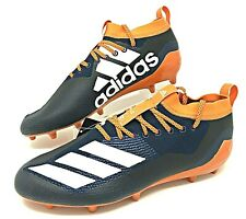 Adidas Adizero 8.0 SM Low Mens Football Cleats NCAA Navy Blue/Orange Size 12.5