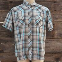 Wrangler Men's Shirt Size XL Multi Color Plaid Western Pearl Snap