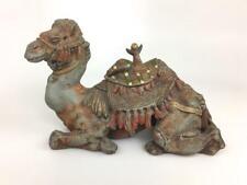Antique Arabian Turquerie Orientalist Camel Cold Paint Inkwell Figure Sculpture