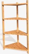 4-Tier Corner Bamboo Shelf Natural Bamboo Standing Rack