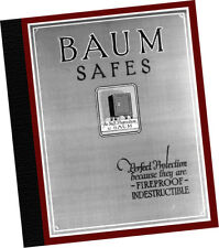J  Baum Safe + Lock Co 1922 CATALOG Perfect Protection Fireproof Indestructible