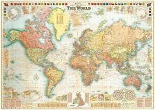 14x24 1565 Historic Large World Map Decorative Print