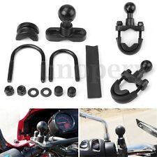 "Motorcycle Handlebar 1""Ball Mount Base For Garmin Zumo 450 550 Series GPS Cradle"