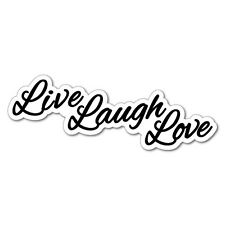 LIVE LAUGH LOVE Sticker Decal Funny Car Prank Laptop