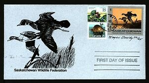 SASKATCHEWAN SW5e 1994 SIGNED FIRST DAY COVER WOOD DUCKS BY WAYNE DOWDY