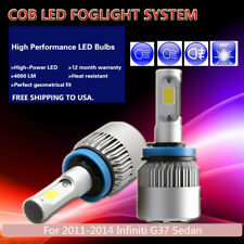 US 2Pcs White PHILIPS COB 16000LM LED Fog Light For 2011-2014 Infiniti G37 Sedan