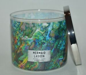 NEW BATH & BODY WORKS MERMAID LAGOON SCENTED CANDLE 3 WICK 14.5 OZ LARGE HTF