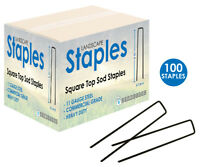 Landscape Fabric Mulch Pins pack 100 SOD Staples Weed Control Chisel Point