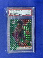 2019 Coby White Panini Mosaic Green Mosaic PSA 9 Rookie Card #211 Bulls
