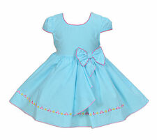 Nuevo Bebé Niña Azul Claro Vestido Fiesta 3-6 Meses