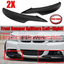 for BMW E90 335i 328i 325i LCI M-Tech Matte Front Bumper Splitter Lip 2009-2011