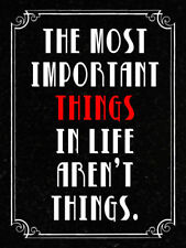The most important things Metal Signs Tin Poster Retro Plate Art Wall Decor
