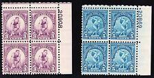 Us 718-719 3c & 5c 1932 Olympics Plate # Blocks of 4 Mint F-Vf Og Nh Scv $46
