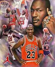 Michael Jordan: giclee print on canvas poster painting no autograph B-0079