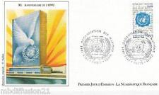1985//FDC 1°JOUR!!**O.N.U-ORGANISATION DES NATIONS UNIES**TIMBRE.Y/T 2374
