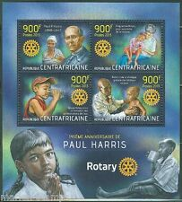 CENTRAL AFRICA  2013 145th BIRTH OF PAUL HARRIS ROTARY INTERNATIONAL SHT MINT NH