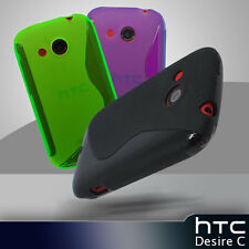 3 Colour Premium S- Curve Jelly Case Cover for HTC Desire C / A320e + Screen Gd