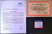 LEE GUETTERMAN  Signed 1988 Topps Contract Auto PSA/DNA Certified Autograph
