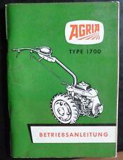 Agria einachser 1700 manual de instrucciones