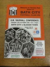 15/10/1991 Bath City v Slough Town  (Light Crease). If this item has any faults