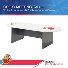 Boardroom Conference Table and 6 Chairs Meeting Office Table D End