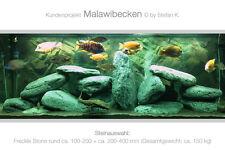 Freckle Stone rund Deko Aquarium Steine Malawi Gestaltung Schiefer Kies