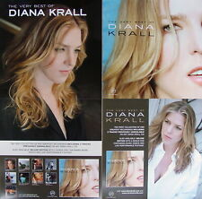 Diana Krall The Very Best Of Promo Two Sided Poster Rare New Elvis Costello Sexy