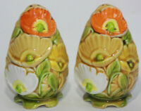Vintage Fred Roberts Company Floral Salt and Pepper Shakers Japan Poppy Flower