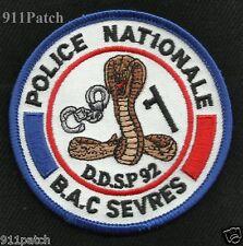 POLICE NATIONALE BAC SEVRES DDSP 92 Police Patch COBRA