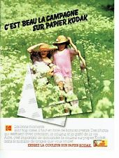 PUBLICITE ADVERTISING 027  1980   Kodak  le papier couleur