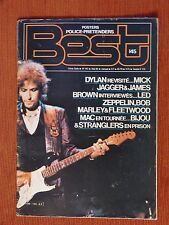 BEST N°145 1980 - BOB DYLAN, JAMES BROWN, ROLLING STONES - AVEC POSTER