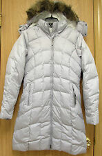 NEW Eddie Bauer Classic Womens Long Premium Down Parka Jacket XS Light Gray