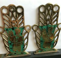 Vintage Bar Mitzvah - Jewish Hebrew Bookends - Boy Standing With Torah