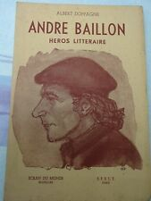 "Albert DOPPAGNE : ""André Baillon, héros littéraire"" (1950) - livre neuf"