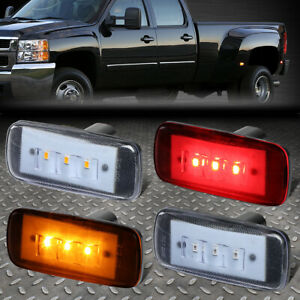 FOR 10-17 RAM TRUCK 3500 4PCS DUALLY BED SIDE FENDER LED MARKER CAB LIGHT CLEAR