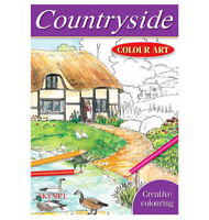 BRILLIANT QUALITY A4 COUNTRYSIDE COLOUR ART THERAPY COLOURING BOOK RELAX