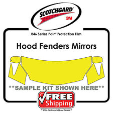 Kits For Chevrolet - 3M 846 Scotchgard Paint Protection Film - Hood Fender Mirr
