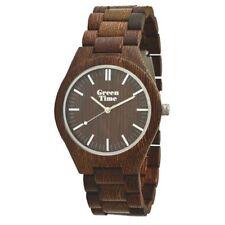 GreenTime ZW021D legno Wengé, wood watch, Wengeholzuhr, Montre en bois de wengé