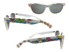 White Christmas Sunglasses with Hand Painted Rudolph, Santa, Flamingo, Snowman