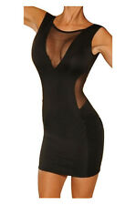 Frauen Reizvolle Feste Rueckenfreies Kleid aermellose Tiefe V-Sichtbare Tai M8O2