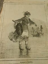 Typo 1874 - S'essayant à l'équilibre Faire du Patin à Glace