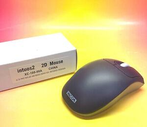 NEW! WACOM intuos2 2D Mouse Model# XC-100-00 A S/N# 2FP002977 Navy Blue & Grey