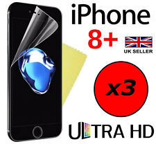 3x HQ CLEAR SCREEN PROTECTOR COVER LCD GUARD FILM APPLE IPHONE 8 PLUS IPHONE 8+