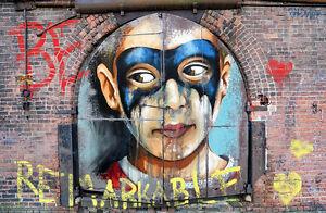 MASSIVE SIZE  ANDY BAKER STREET ART GRAFFITI PAINTING PRINT CANVAS 150cmx 100cm