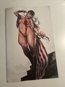 VAMPIRELLA #16 KYUONG EOM VIRGIN AMERICAN FLAG EXCLUSIVE 1