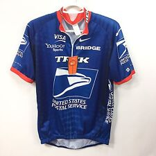 NIKE TREK USPS Cycling Jersey XL / 5 Blue 1/4 Zip Made in Italy NEW