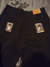 Mens Vintage History Iceberg Black Pants Made In Italy 36X33 Robber Rodent Euc