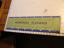1936 Scarce MONOPOLY PLAY-RACK for Holding Properties & money